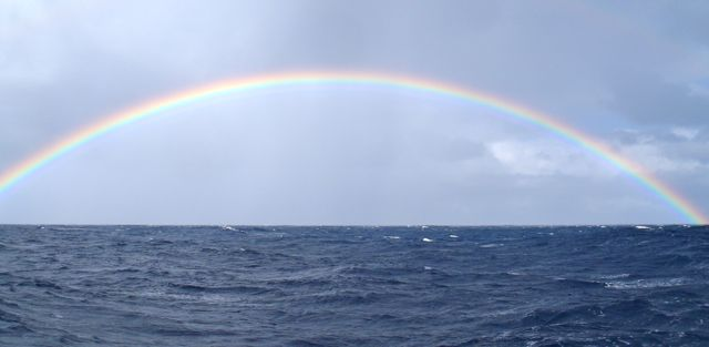 rainbow over south pacific